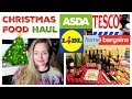 CHRISTMAS FOOD SHOP / FESTIVE GROCERY HAUL / TOYS/ Tesco, Lidl, Asda, Home Bargains ,Poundland