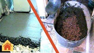 Ремонт квартиры: заливаем пол керамзитобетоном в пропорциях(Ремонт квартиры: заливаем пол раствором с керамзитом в пропорциях : цемент-песок-щебень(керамзит) 1:2:4. Керам..., 2016-08-31T14:30:02.000Z)