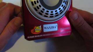 MINI-SPEAKER #WAXIBA XB-818REC FM RADIO SD/USB MP3 RECORDER & BUILT-IN RECHARGEABLE BATTERY