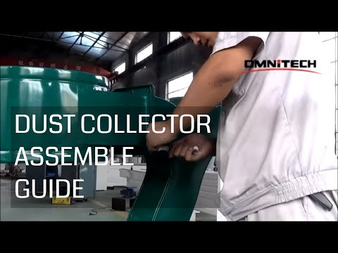 Dust Collector Assemble Guide on CNC Router China OMNI