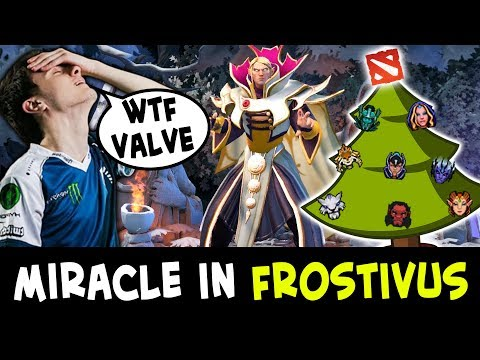Miracle playing FROSTIVUS event first time — Invoker trial