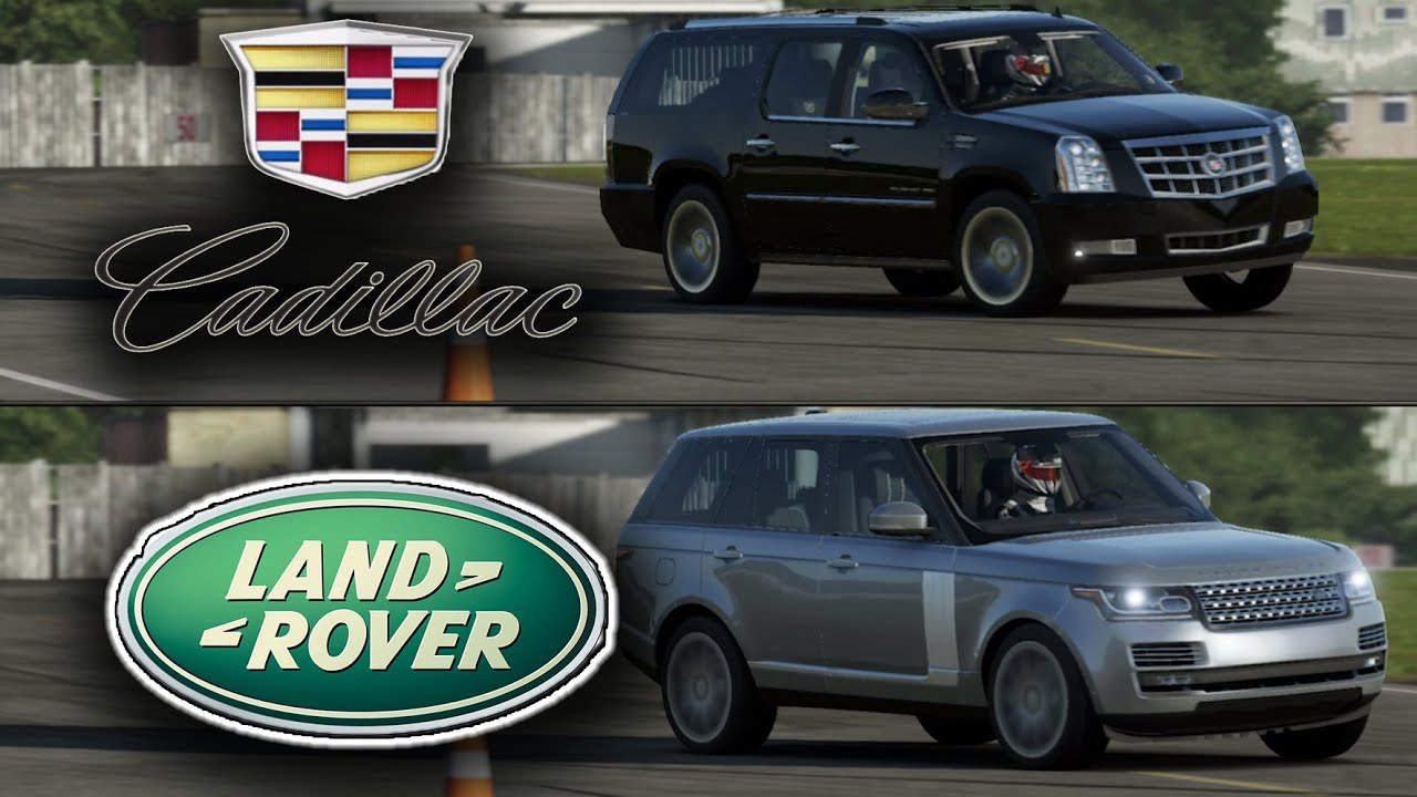 Cadillac Escalade Vs Range Rover Sport Top Gear Track Battle Youtube