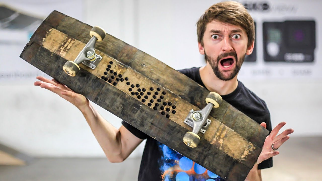 Can We Break the Whiskey Barrel Skateboard? | You Make it We Skate Ep 234