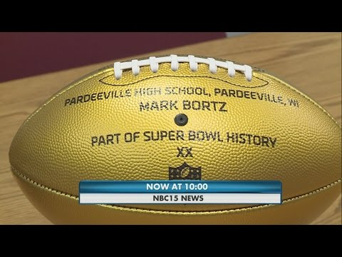 NFL Honors Pardeeville High School with golden football