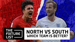 Who Wins? North England vs South England   The Fixture List