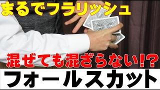 【種明かし】混ぜてるのに混ざらないカット【かっこいい!】magic trick revealed