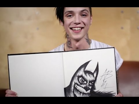 Arts & Chats: Andy Biersack of Black Veil Brides draws and talks fan expectations and rock stars