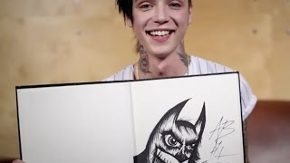 Arts & Chats: Andy Biersack of Black Veil Brides draws and talks fan expectations and rock stars YouTube Videos
