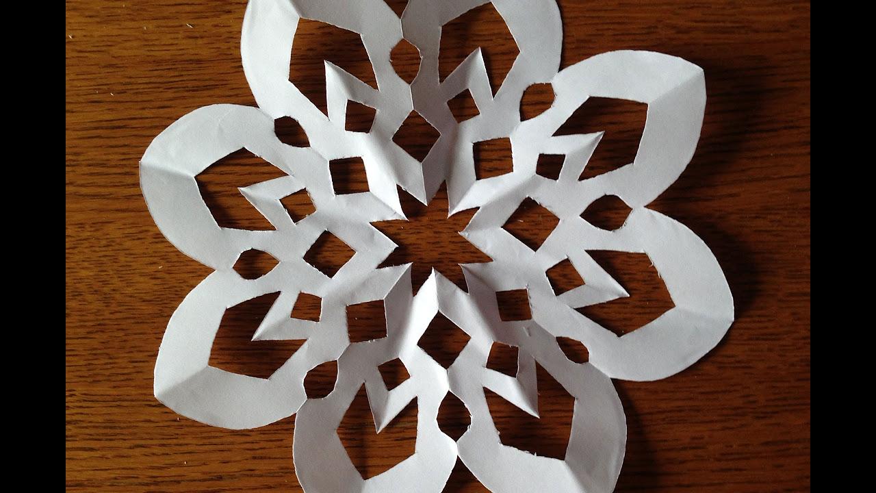 витинанка з паперу для нового року схеми