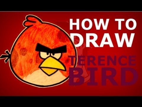 How to draw Terence from Angry Birds Toons step by step