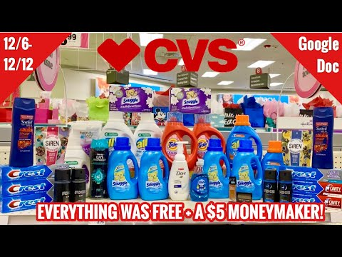 CVS Free & Cheap Coupon Deals & Haul | 12/6 – 12 | ALL FREE + $5 Money Maker! | Laundry Stock Up!🔥🙌🏽