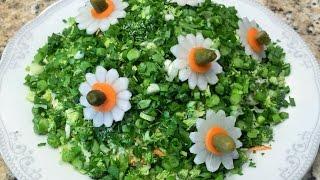 РОМАШКИ. Украсим салат за 15 минут.  Chamomile. Decorate the salad for 15 minutes.