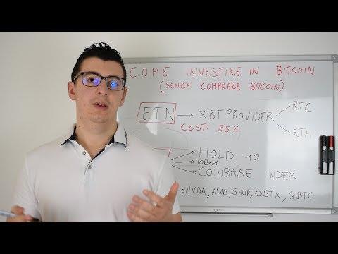 Come Investire In Bitcoin Senza Comprare Bitcoin O CFD