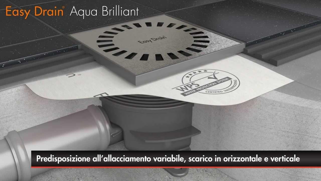 Sifone Per Doccia A Pavimento.Easy Drain Aqua Brilliant L Installazione Del Scarico Della