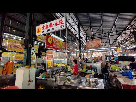 檳城美食早餐巴剎美味云吞面 Malaysia Penang morning market breakfast wonton noodle - YouTube