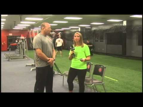 Melanie learns about science based sports training at Athletic Republic