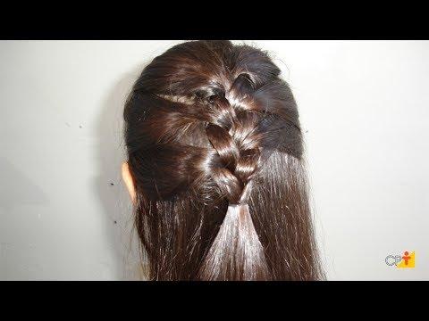 Clique e veja o vídeo Como Fazer Penteado Meia Trança Embutida - Curso a Distância Penteados