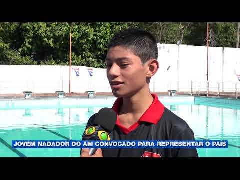 Jovem nadador amazonense convocado para representar o Brasil