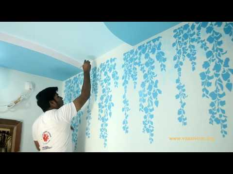 Stencil wall designs and custom wall designs