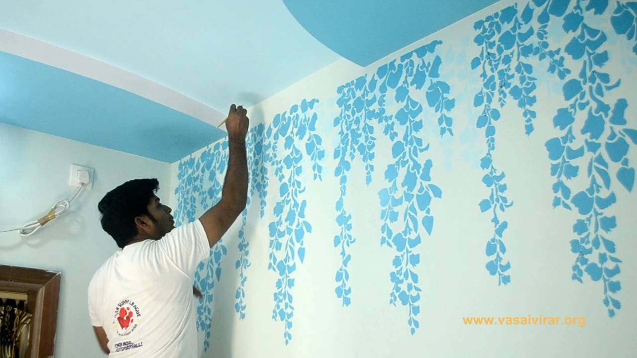 Charming Stencil Wall Designs And Custom Wall Designs   YouTube