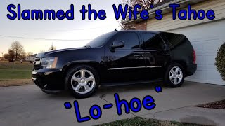 How to Lower 4WD or 2WD Tahoe Yukon Escalade Project Lo-hoe