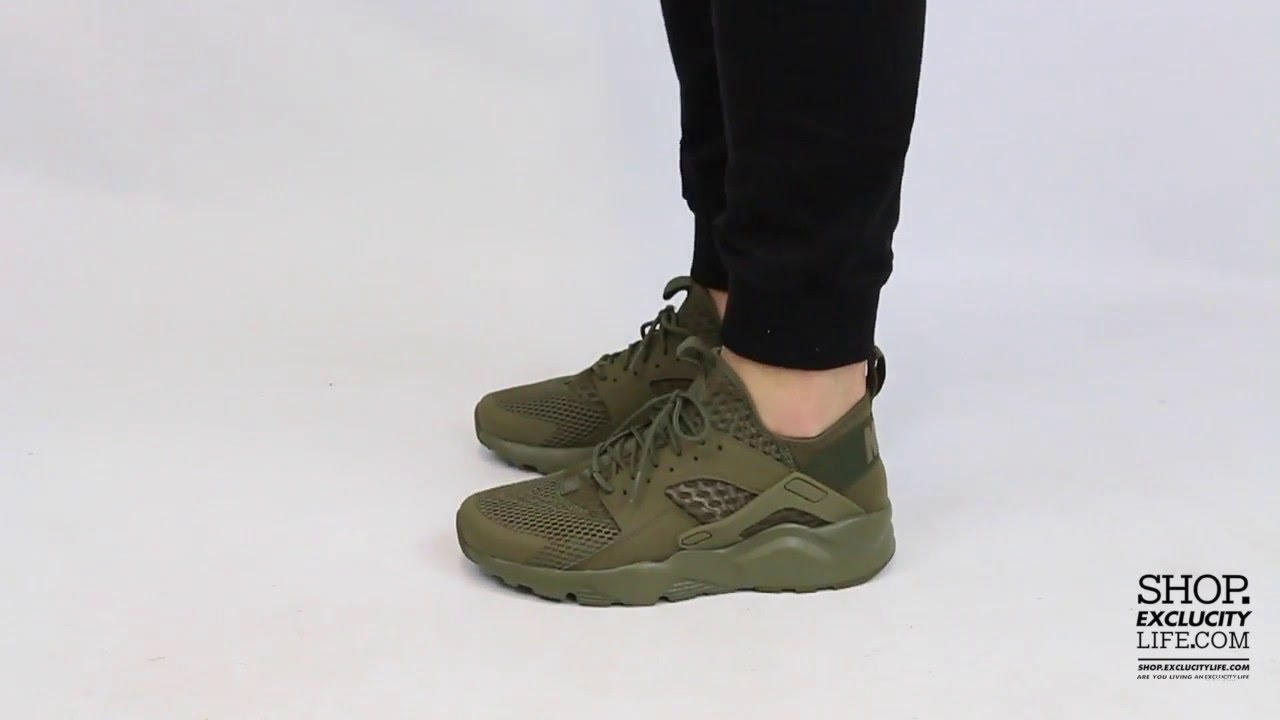 save off 34a98 053f5 Nike Huarache Ultra BR Medium Olive On-feet Video at Exclucity