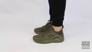 Nike Huarache Ultra BR Medium Olive On-feet Video at Exclucity