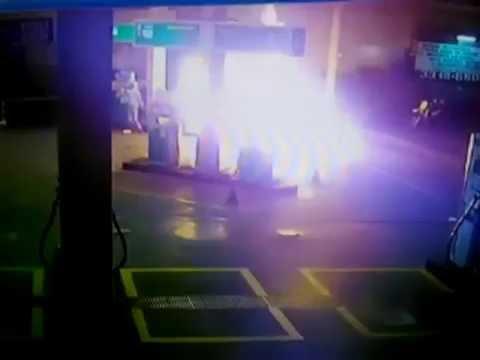 Polícia prende homem que causou incêndio em posto de combustíveis