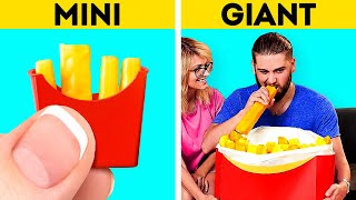 MINI VS. GIANT FOOD || Jaw-Dropping Food Recipes You'll Want To Try || Fast Food And Dessert Ideas