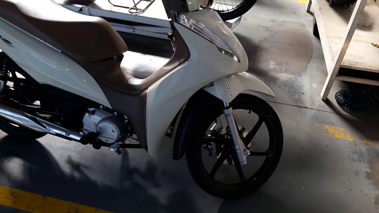 Nova Honda Biz 2018 Branca Youtube