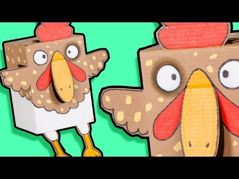 Craft Ideas with Boxes - Chicken | DIY on BoxYourSelf
