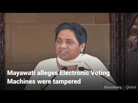 Mayawati Doubts The Functioning Of EVMs