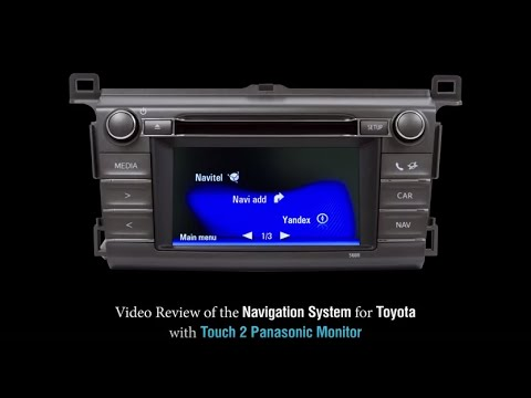 Navigation System For Toyota With Touch 2 Panasonic
