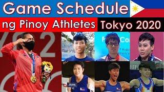 Olympic Game Schedule ng mga Pinoy Athletes sa Olympic Games 2021