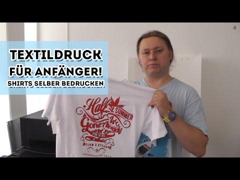 T Shirts Bedrucken Textildruck Für Anfänger Youtube