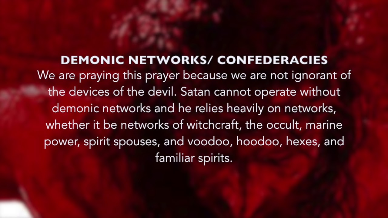 Warfare Prayer Against Demonic Networks Working Against You