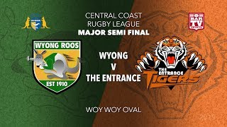 2019 Central Coast RL - Major Semi Final - 1st Grade - Wyong v The Entrance