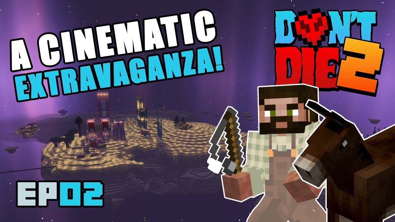 WOODLAND MANSION, Village Raid, Dragon fight and a Mule! | Don't Die 2 Ep02 | Minecraft Hardcore SMP