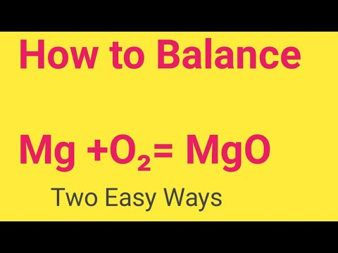 Mg +O2= MgO Balanced Equation||Magnesium+Oxygen=Magnesium oxide Balanced Equation