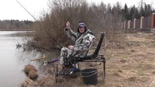 Ловля плотви навесні на фідер.Рибалка в Пушкінському районі