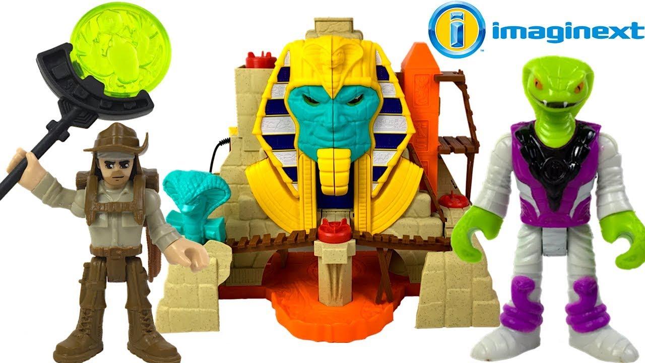 Fisher-Price Imaginext Serpent Strike Treasure Hunters Pyramid Childrens Playset