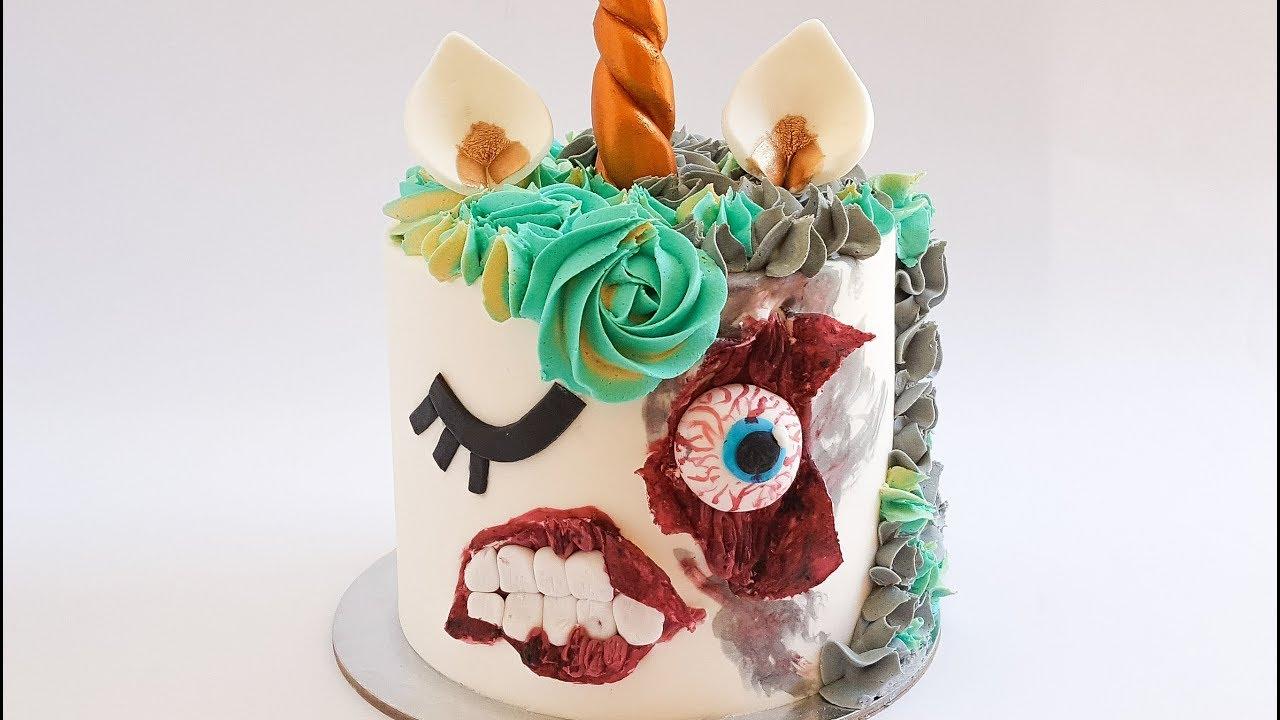 Zombie Unicorn Halloween Cake Rosies Dessert Spot YouTube