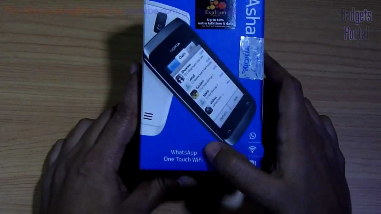 Nokia ASHA 309 Unboxing & Hands on Review HD by Gadgets Portal