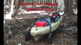 "TRAILTREKKER kayak carts 24"" 27"" & 30"" axles"