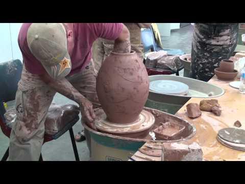 Cameron Williams Throwing at Northern Beaches Ceramics Sydney Australia.
