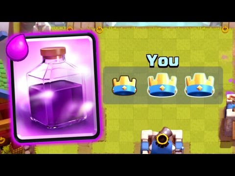 Clash Royale - RAGE SPELL = 3 CROWNS!