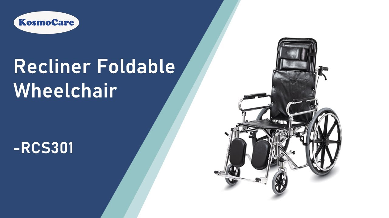 6a9cf11a5d3 KosmoCare Recliner Reclining Foldable Steel Wheelchair. Kosmochem Home  Healthcare