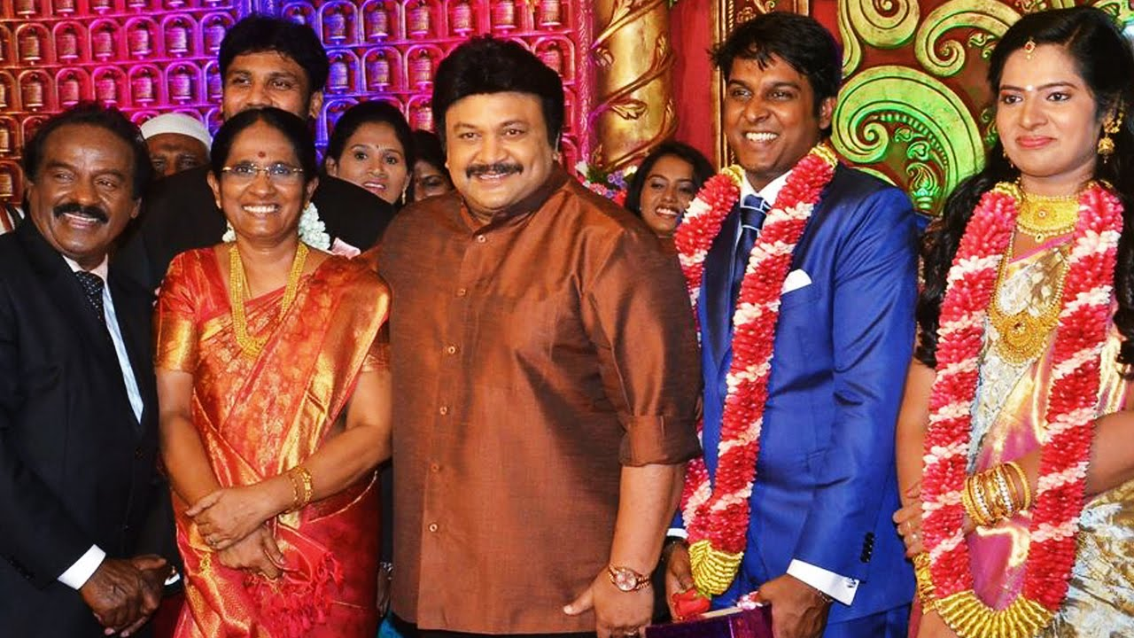 Vasanth and Co\'s owner son Marriage Reception | Venkat Prabhu Family ...