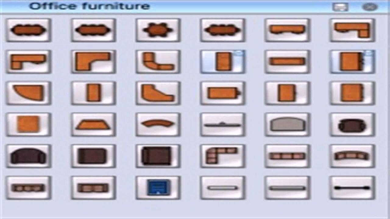 Office Furniture Symbols For Floor Plans: Floor Plan Office Furniture Symbols