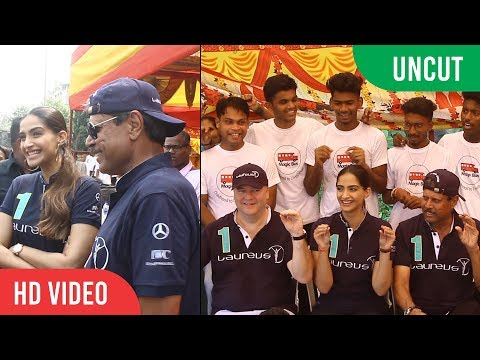 UNCUT - Sonam Kapoor And Kapil Dev At Magic Bus Project | Laureus Sport